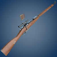 Mosin rifle with scope