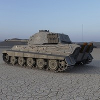 3ds max tiger ii german tank