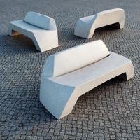 3d bilbao public bench escofet