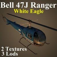3d bell 47j pga helicopter
