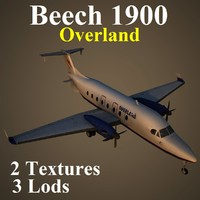 3d model of beech ola aircraft