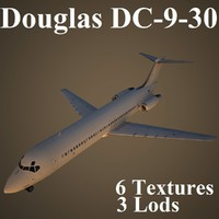 3ds max douglas dc-9-30 air
