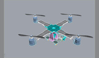 quadcopter helicopters quadrotor 3d model
