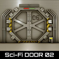 technological door 3d 3ds