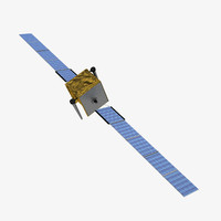 3dsmax skynet5 communications satellite