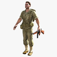 real-time soldier ben 2 3d model
