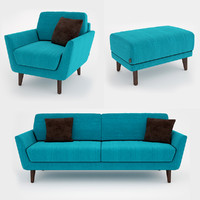 3d model sofa sits rucola