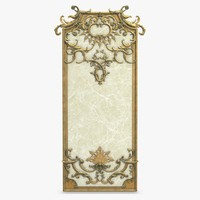 wall frame decor 3d max