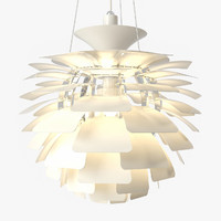 Artichoke Pendant Lamp (White and INOX)