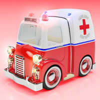 maya cartoon ambulance
