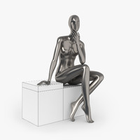 slim female mannequins 3d model