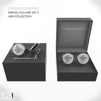 3ds max men zara flower cufflinks