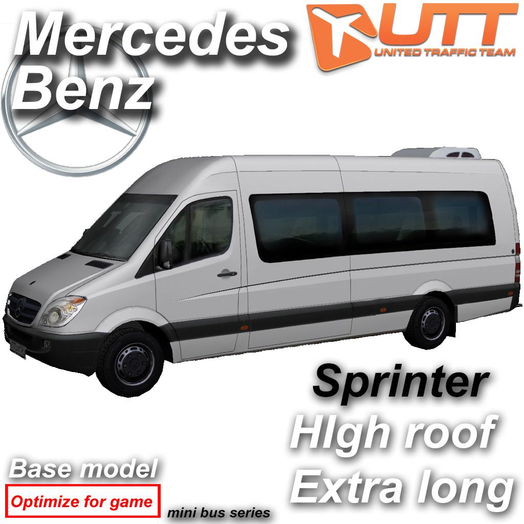 3d model mercedes benz sprinter van for Mercedes benz van models