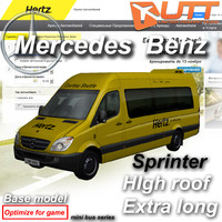mercedes benz sprinter van 3d x