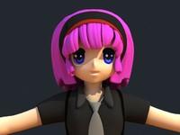 3dsmax anime girl