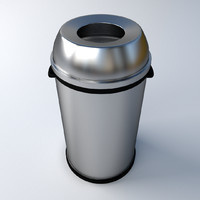 3d model trashcan 4
