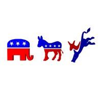 3d political party logos