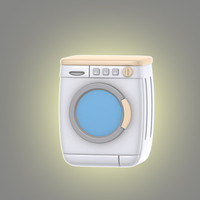 3d cartoon washing machine model