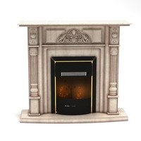 3d model fireplace modelled 2009