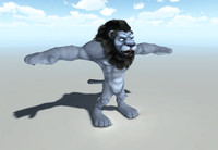 3ds max lion humanoid type