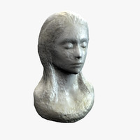 3d c4d female bust