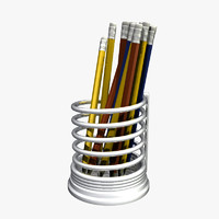 pencils steel holder 3d model