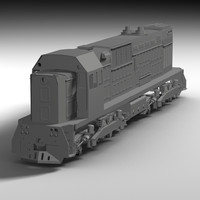russian diesel train 3d c4d