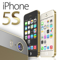 iphone 5s gold 3d 3ds