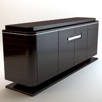 3d cabinet zebrano model