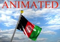 3d flag afghanistan model