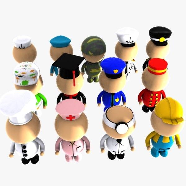 Cartoon Characters Jobs : Max character cartoon toon