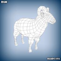 base mesh ram c4d