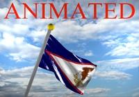 flag american samoa 3d model