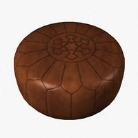 3d pouf oriental model