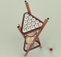 billiard hourglass 3d model