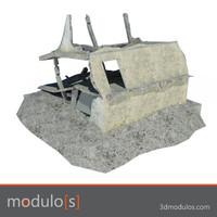 3d ruin building model