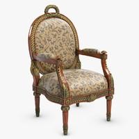 ateli chair classic 3d 3ds