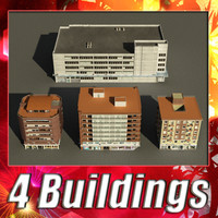 3dsmax building 1-4 collections