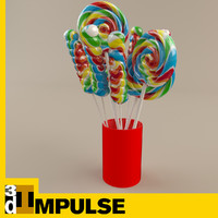Lollipop cup