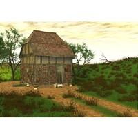 grainstore building fantasy obj