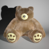 giant plush bear fur 3d ma