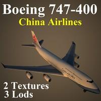 3d model boeing 747-400 cal