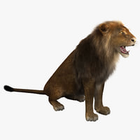 3ds max lion pose 4