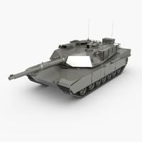 m1 abrams tank 3d max