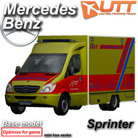 mercedes benz sprinter 3d 3ds