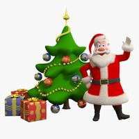 3d santa christmas