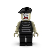 mime worried 3d model