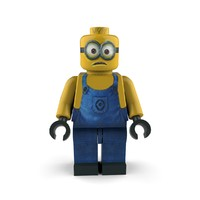 3d model of minion follower character