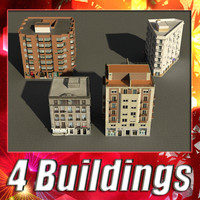building 5-8 collections 3d 3ds