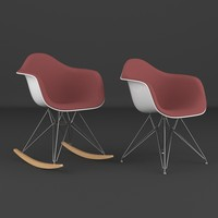 eames plastic chair 3d